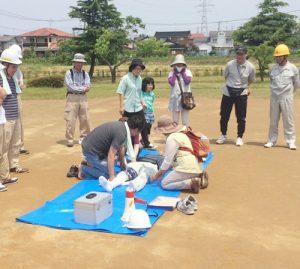 富士見学区防災活動